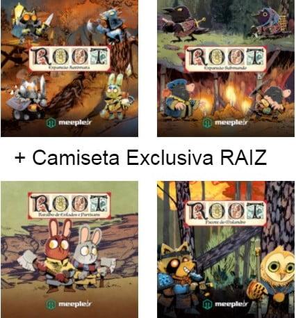 Combo 4 expansões Root + Camiseta Exclusiva