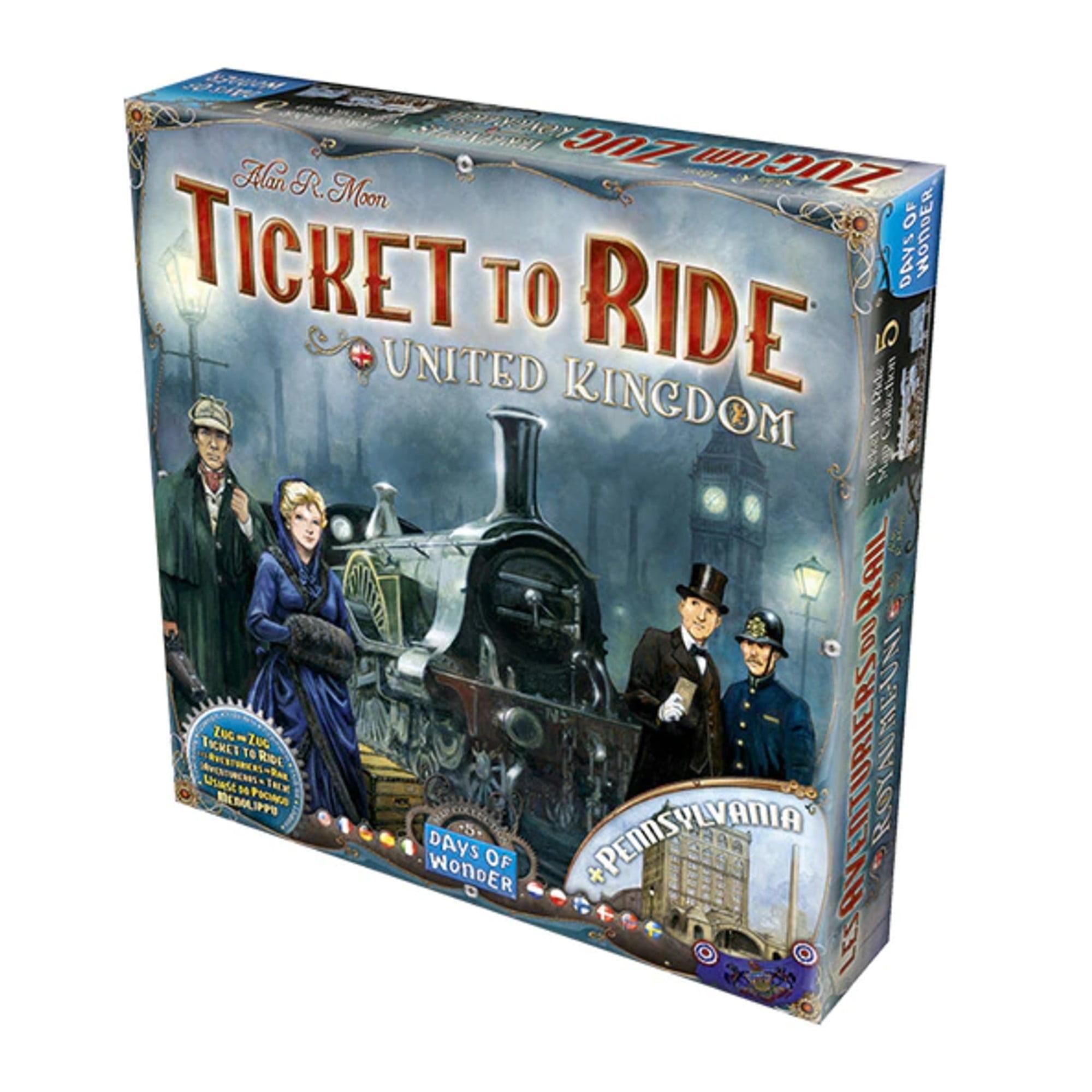 Ticket to Ride Reino Unido e Pensilvânia