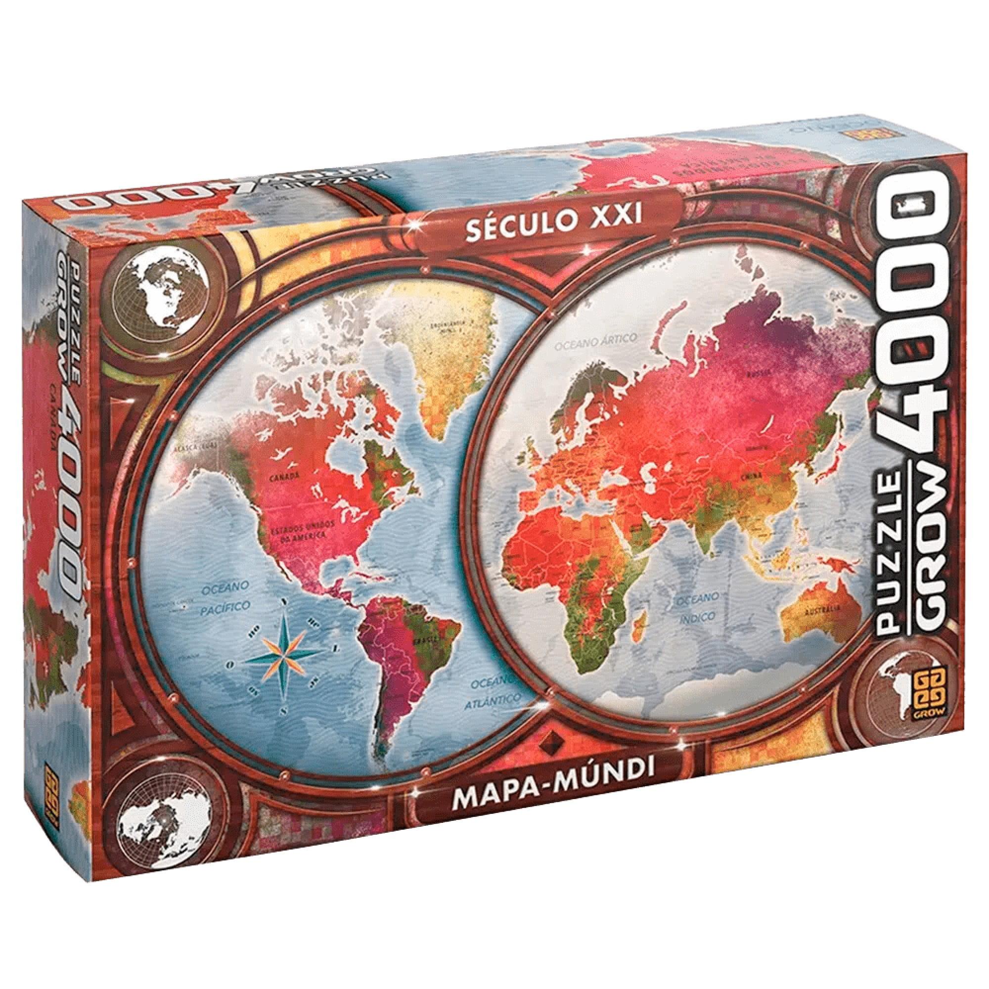 Quebra-Cabeça 4000 peças Mapa-Múndi
