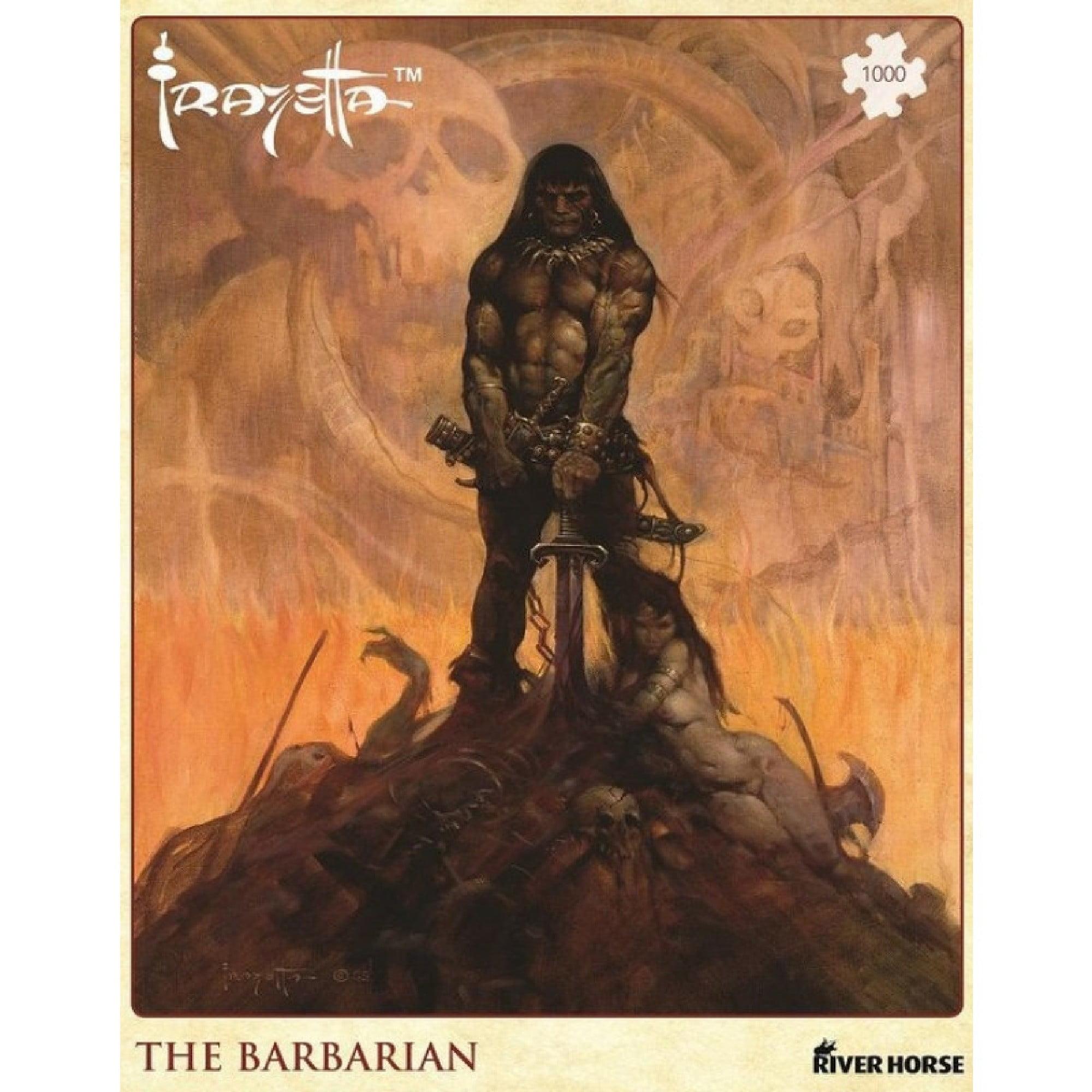 The Barbarian (Quebra-cabeça de Luxo com arte de Frank Frazetta) 1000 Peças