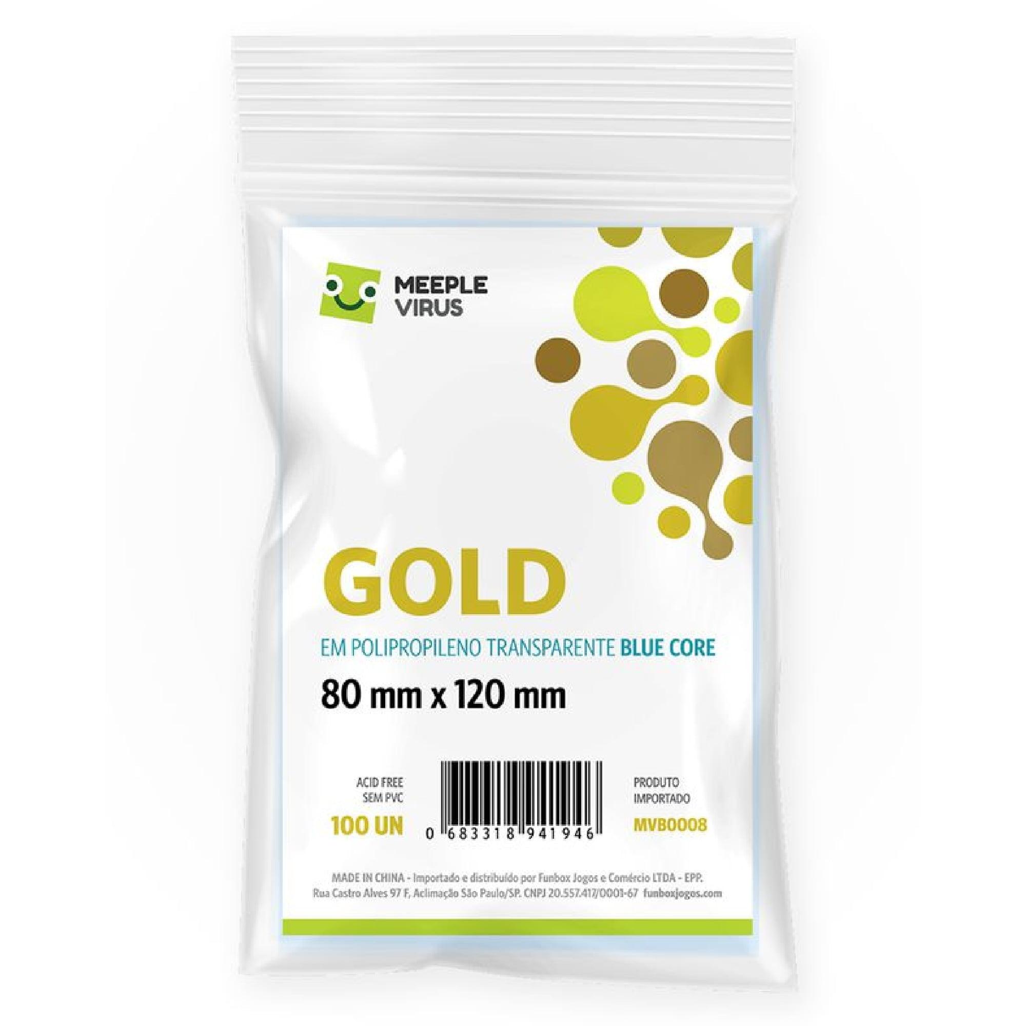 Sleeves Blue Core Gold (80 x 120mm) Meeple Virus
