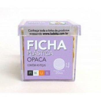 Ficha Plástica Opaca 40 Peças (Preto, Branco, Laranja e Lilás)