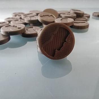 Kit de tokens 3d para o jogo Fornalha - 36 unid