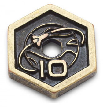 Kit Moedas de Metal Terraforming Mars + Moeda de Primeiro Jogador