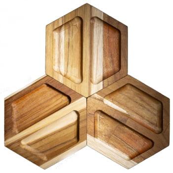 Porta Componentes Hexagonal Duplo
