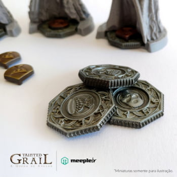 Discos e Marcadores de Metal para Tainted Grail