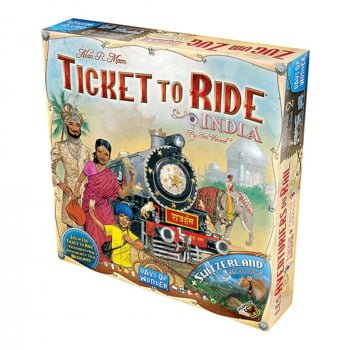 Ticket to Ride Índia e Suíça