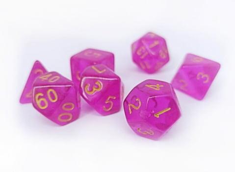 Dados para RPG Translucido - Conjunto com 7 peças
