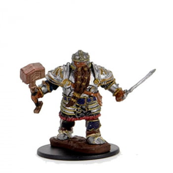 Dungeons & Dragons: Icons of the Realms -  Dwarf Male Fighter - Miniatura Premium