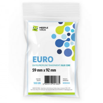 Sleeves Blue Core Euro (59 x 92mm) Meeple Virus