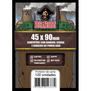 Sleeves Customizados - Bandido, Kariba e Dinheiro Power Grid/Futuropia (45 x 90mm) Bucaneiros