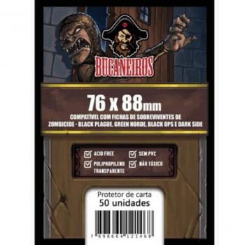 Sleeves Customizados - Fichas de Sobrevivente Zombicide Black Plague, Green Horde, Black Ops, Dark Side e Invader (76 x 88mm) Bucaneiros