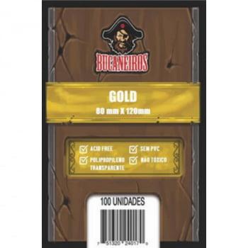 Sleeves Gold (80 x 120mm) Bucaneiros