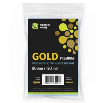 Sleeves Blue Core Gold Premium (80 x 120mm) Meeple Virus